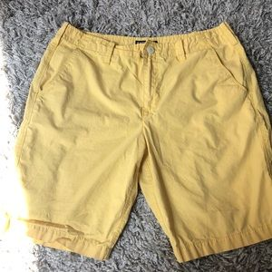 Express yellow shorts